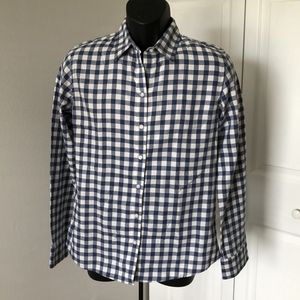 BANANA REPUBLIC SOFT-WASH PLAID MEN'S SHIRT